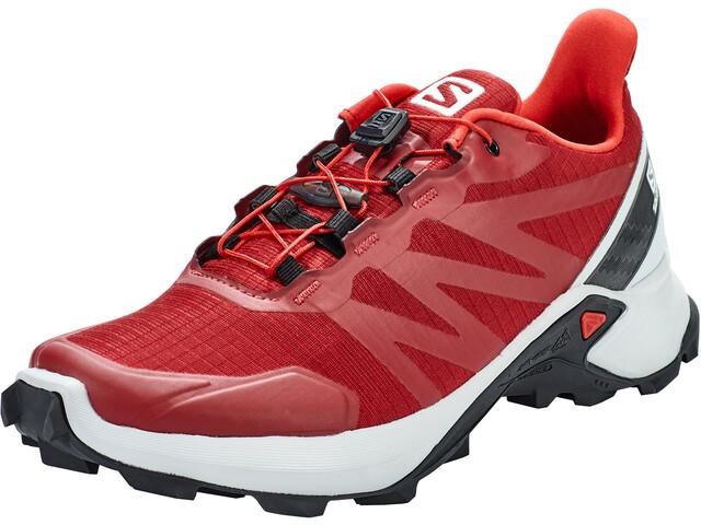 Salomon Supercross Shoes Men red dahlia/pearl blue/black